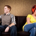 Awkward silence on a date