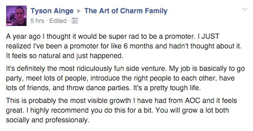 The Art of Charm Bootcamp client testimonials
